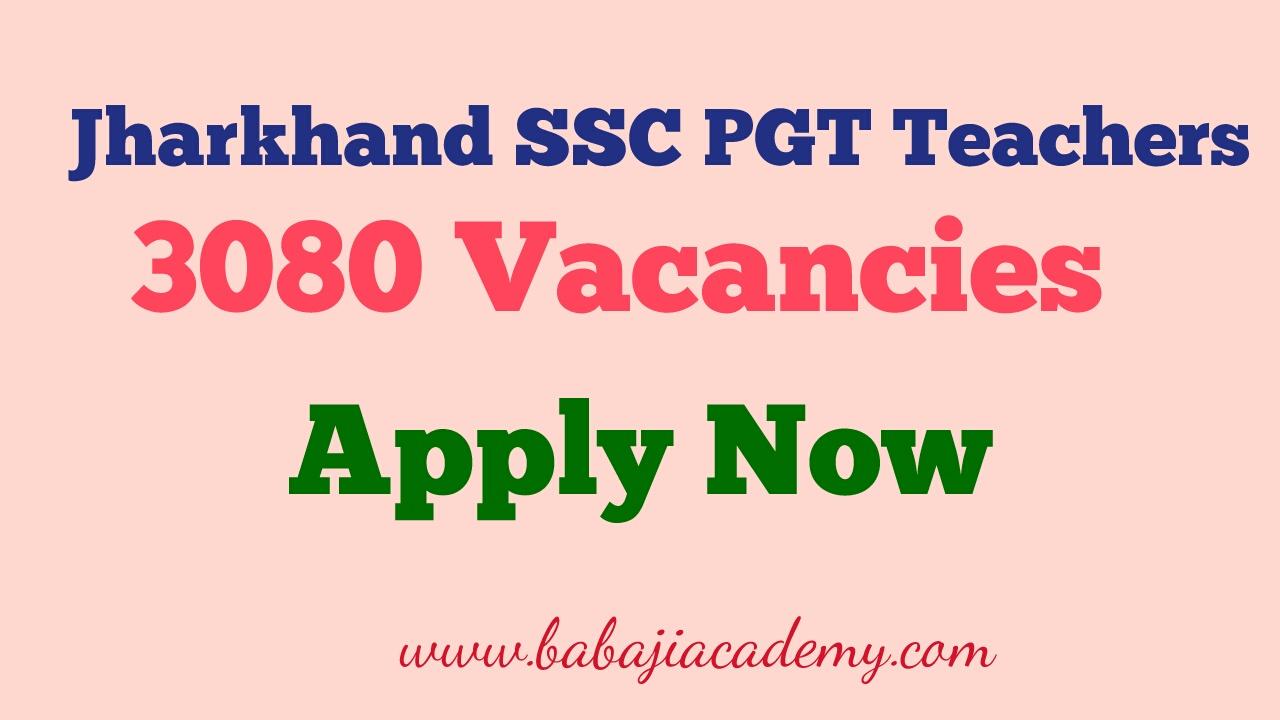 Jharkhand SSC PGT 2017