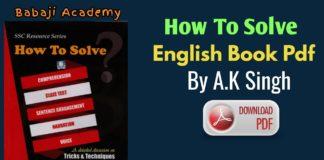 How To Solve Pdf By AK Singh